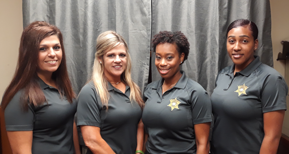 Left to Right: Katie Cormier (Chief Civil Deputy), Trechelle Causey, Carla Arvie, and Chasity Wilson