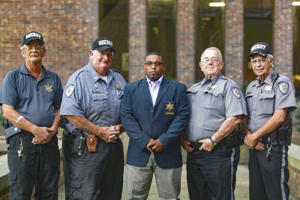 Left to Right: Kerry Paul Fontenot, Earlin Fruge, Major Jeremy Mitchell, Kent Vidrine, and Durwin Carter